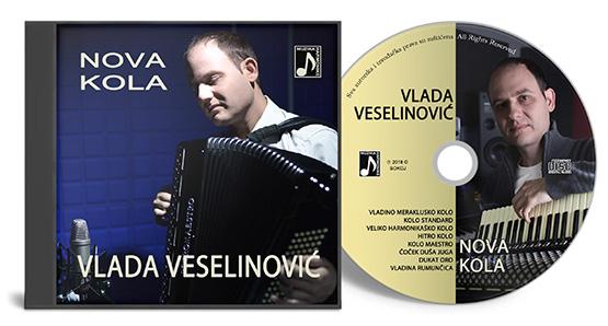 Autorski CD album Vlade Veselinovic NOVA KOLA