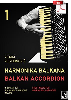 Harmonika Balkana - Note za harmoniku
