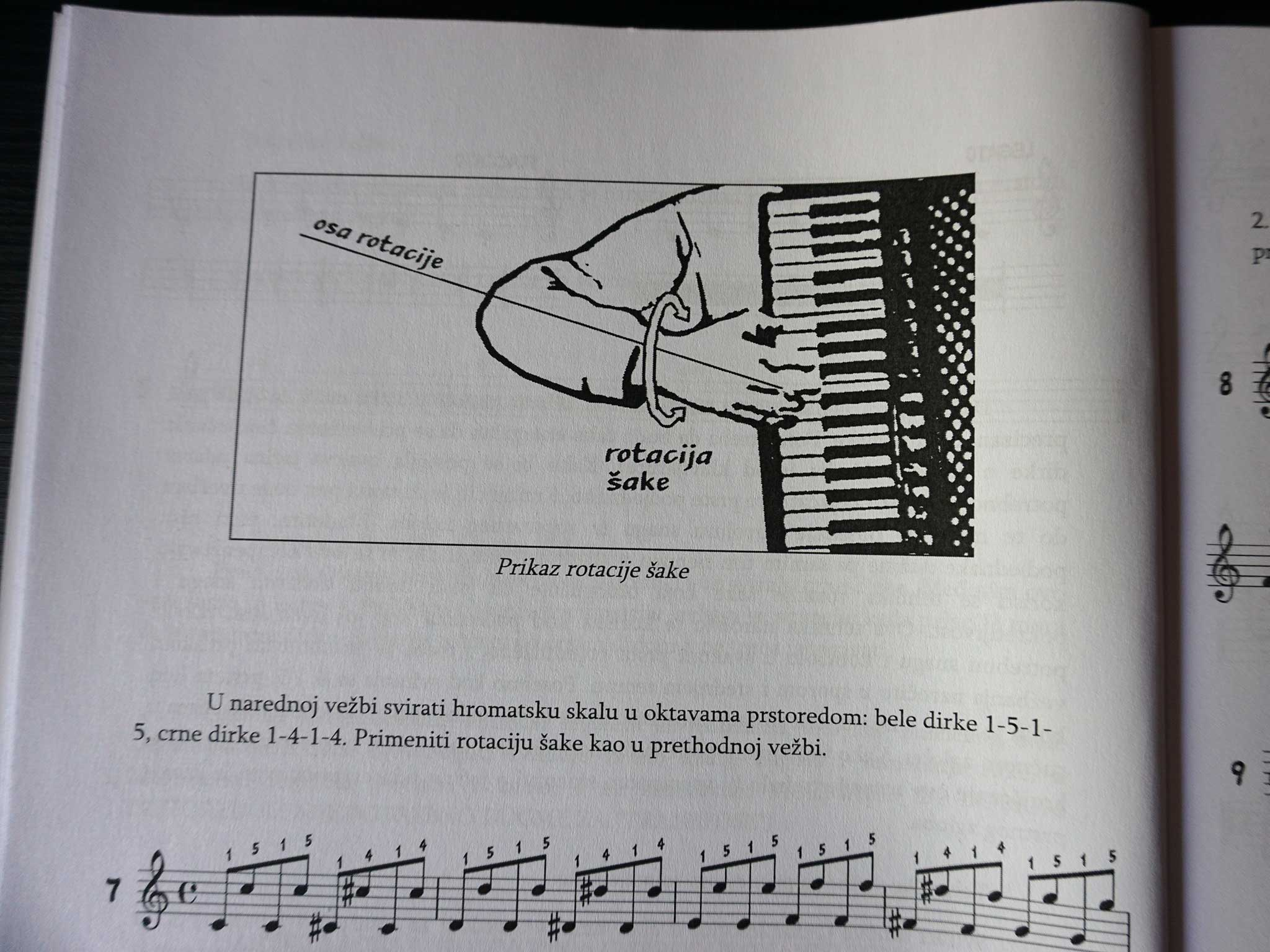"""Knjiga """"Škola narodne muzike za harmoniku"""""""