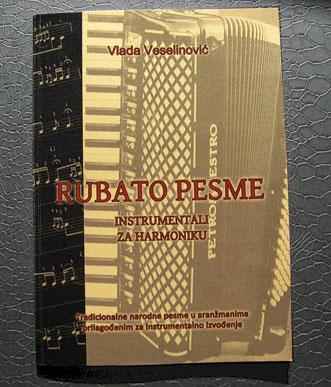 RUBATO PESME - instrumentali za harmoniku - notna knjiga