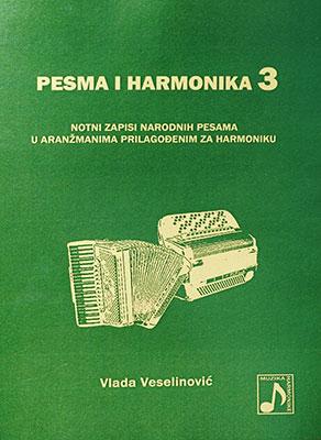 Knjiga notnih zapisa Pesma i harmonika 3