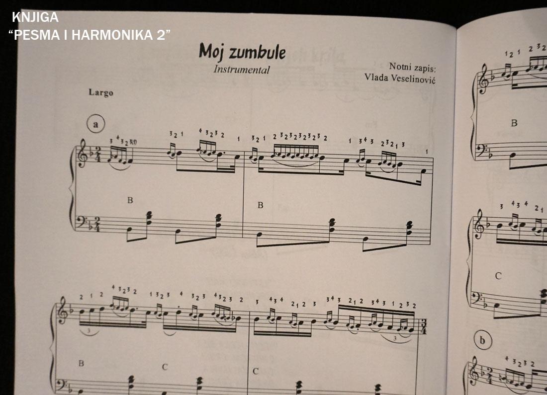 Note za harmoniku - knjiga Pesma i harmonika 2
